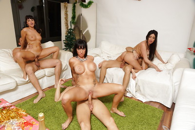 Ava Dalush and Anissa are having a very intensive group sex therapy
