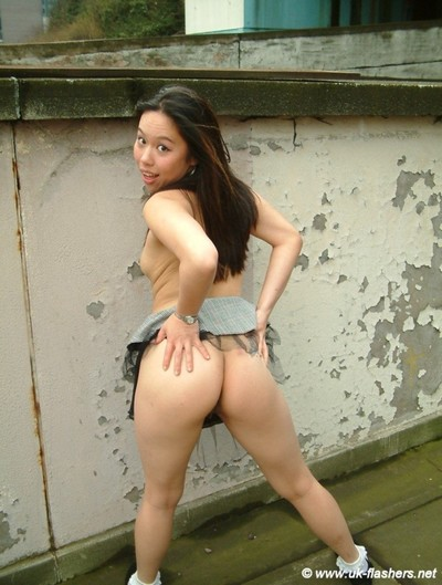 Its a urban day out for pleasing asian exhibitionist koko lee