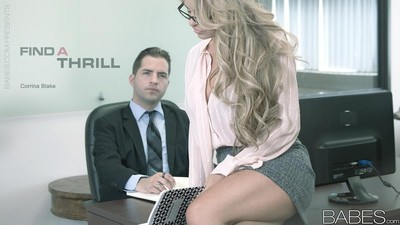 Boobsy secretary fucks with her boss in office
