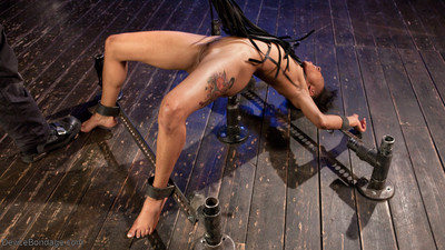 Nikki suffered through extreme floggings and brutal boob edge and cage of love clamps that
