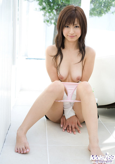 Japanese babe in skirt