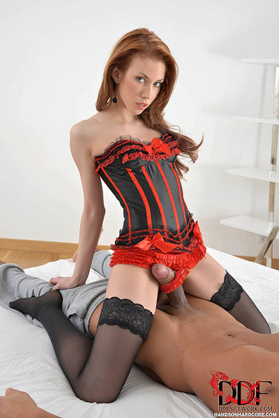 Stocking adorned Euro chick giving interracial bj in advance of intercourse