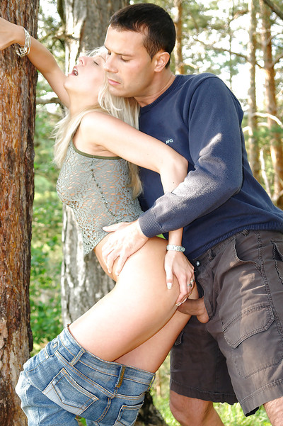 Filthy blonde infant cutie Suzanna purchases fucked hardcore outdoor