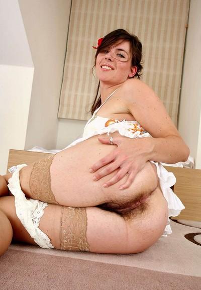 Wavy mature in stockings