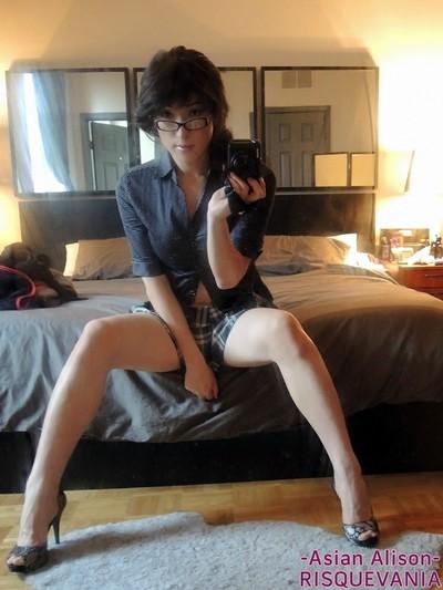 Nerdy shelady in glasses