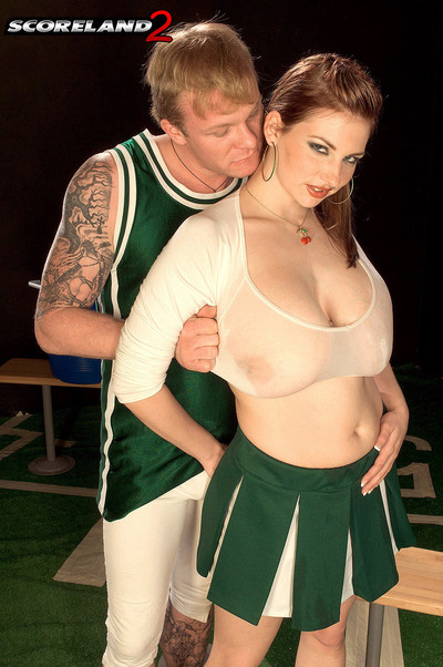 Busty big boobed cheerleader christy marks lust phallus