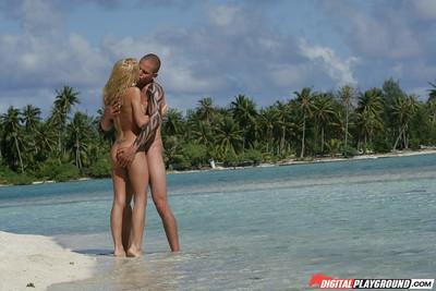 Latina blonde Jesse Jane is hammering hard and getting cum on boobies