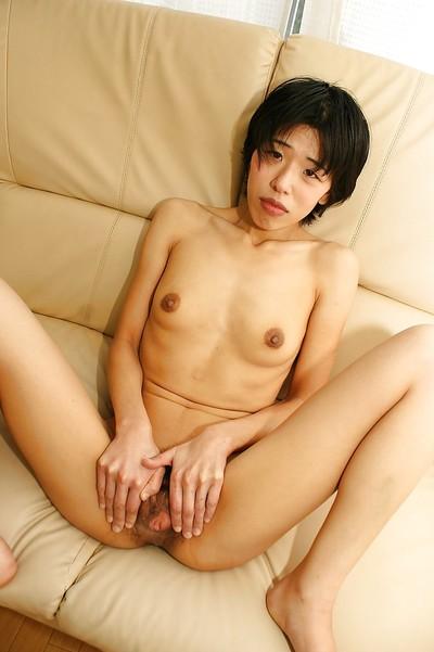 Cute dressed Japanese milf Shinobu Funayama takes off her black dress