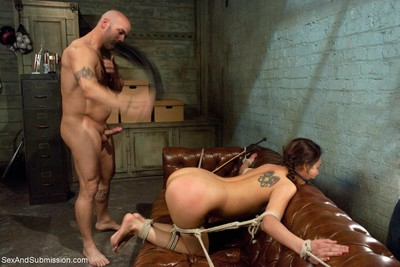 Latina chicito bound and ass dug by cruel educate