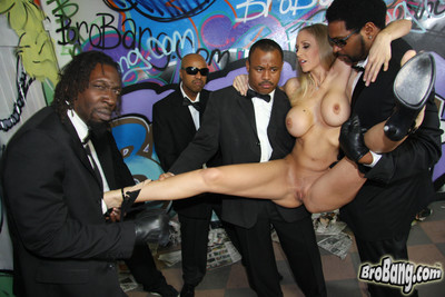 Busty julia ann giving head to ten big cocked black men