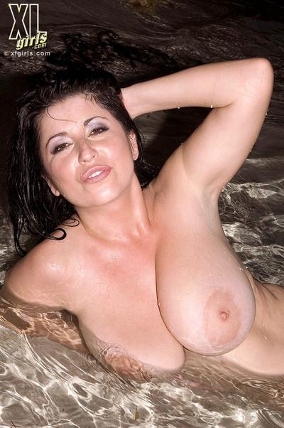 Gorgeous busty natlie in tiny bikini