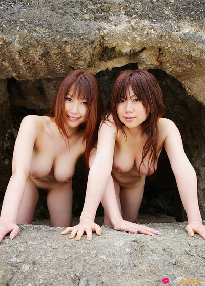 Japanese models ai sayama and kanon yaotome in topless together