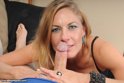 Busty hot milf slut madison paige jerking cock for cum