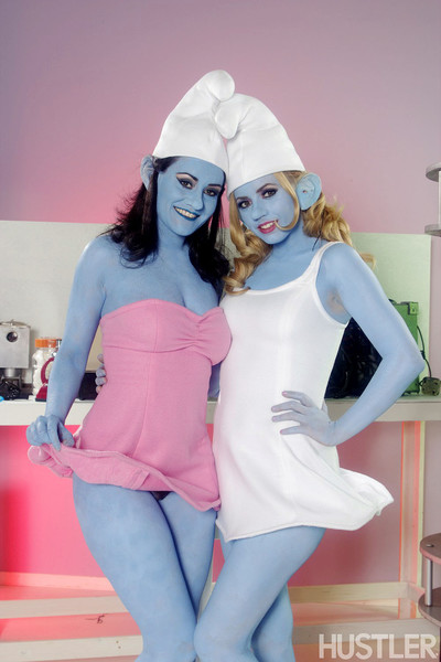 Lexi belle and charley practice in this aint the smurfs xxx