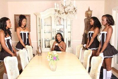 Black sweeties chanell heart and layton benton and their girlfriends are astonishingly
