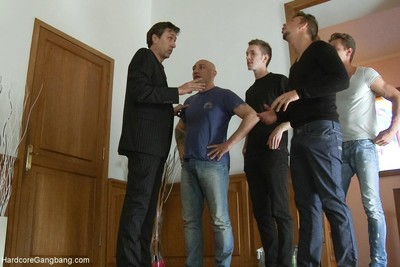 Untarnished 18yr old maid gets punished by boss, rough sex gangbang