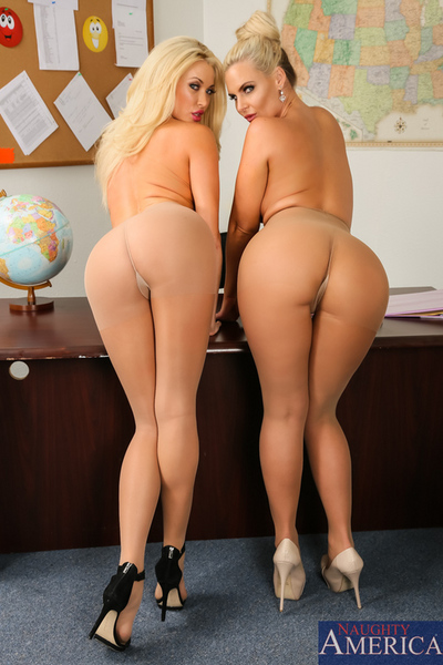 Miss Phoenix Marie finds fellow teacher Summer Brielle trying to fuck one of her students. Phoenix decides they can both get from his cock.