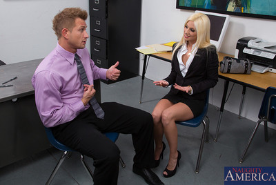 Sticky babe Jessie Volt decides to have her tight pussy owned by her boss.
