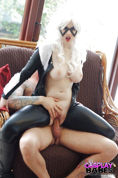 Titsy Euro fetish instance Jaye Rose taking hardcore fucking in cosplay costume