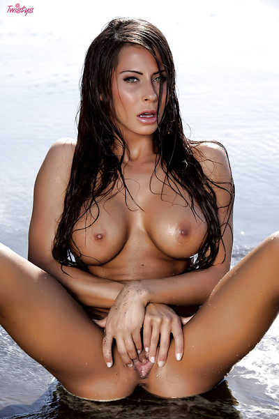 Perspired cutie Madison Ivy shows off her awesome wiry shape and immense bra buddies