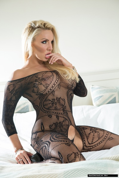How hot and sexy does your goddess Dannii Harwood give the impression in this crotchless lace catsuit!! Why dont you come innermost and see for yourself!
