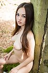 Delectable Japanese teen li moon gets exposed in the forest
