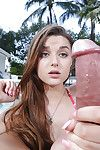 Wiry Teeny year old amateur Alex Mae face fucked by tough pride outdoors