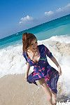 Japanese girl at the beach
