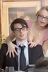 Staci carr successfully seduces her boss in his office