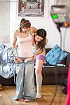 Inside voyeur films amateur Aussie hotties Alba and Carmen M in socks