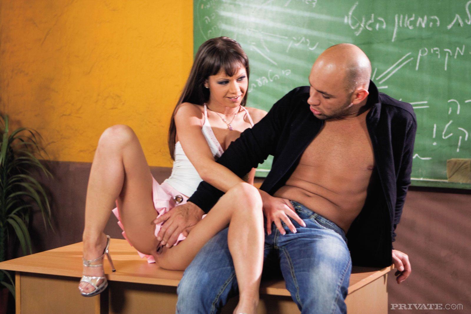 Does Hot school teacher anal sex
