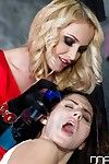 Euro fetish models Meg Magic and Kathia Nobili face licking and spitting