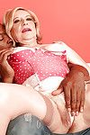 Ache granny Miranda Torri stripping from panties and nailed on a huge black dong