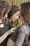 Lesbian brunette hair Jenna Ross loves to spit on pussy of Belle Knox