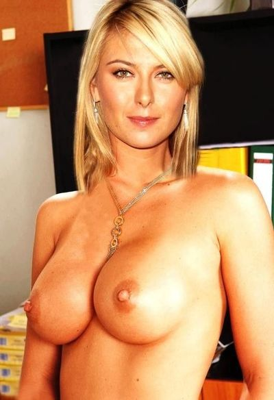 Burst and effortless light-complexioned celeb Maria Sharapova anal fucked