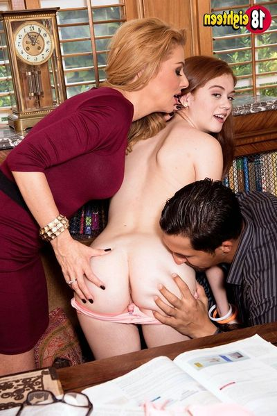 MILFs horny lesson with anal making love be fitting of shy college youthful