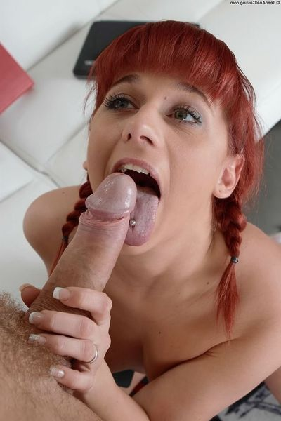 Amateur redhead Terry Sullivan waste qualified n fucked at anal casting