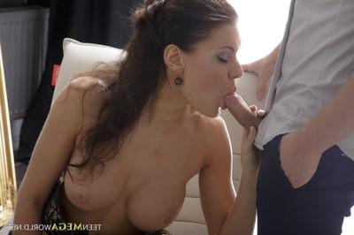 Busty dark hair gains her tight ass dug hard at juvenile mega world