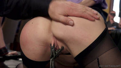 Alina is an untrained filly & cherry means to break her. tight suspension bondag
