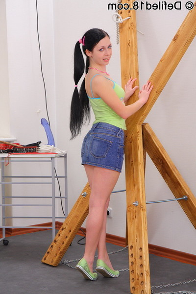 Paddled babe is gagged and owned up the waste