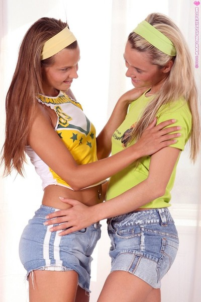 Luscious chicks finger and toy rigid holes