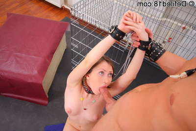 A girl is fixed firmly up and gagged and anal bonked
