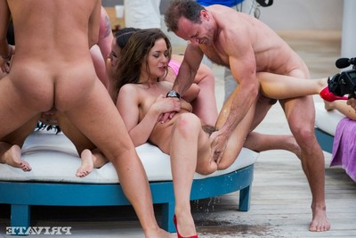 Anissa kate very in a real european sexual act party