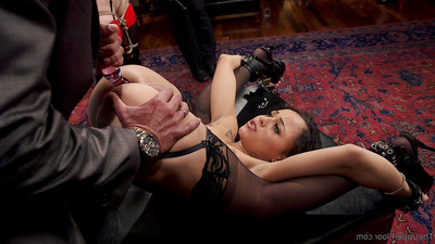 S&m brunch enjoys the DP of tiny 18 year old anal slave!