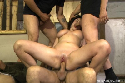 Big titted Teen-age year old russian courtesan purchases fucked in group for the number one time double pe