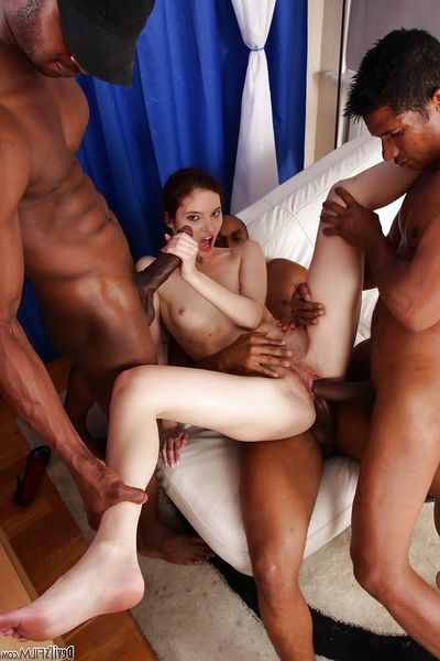 Marvelous interracial anal groupsex with pungent as fuck Atlanta