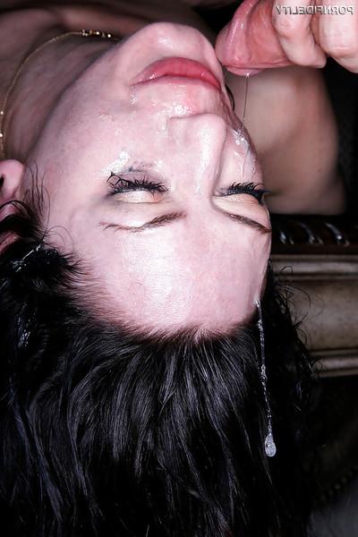 Coed whore Sarah Shevon taking intense smoking of blowjob orifice