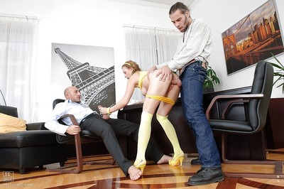 Office fucking with a hardcore anal drilling of a nice darling Lolly