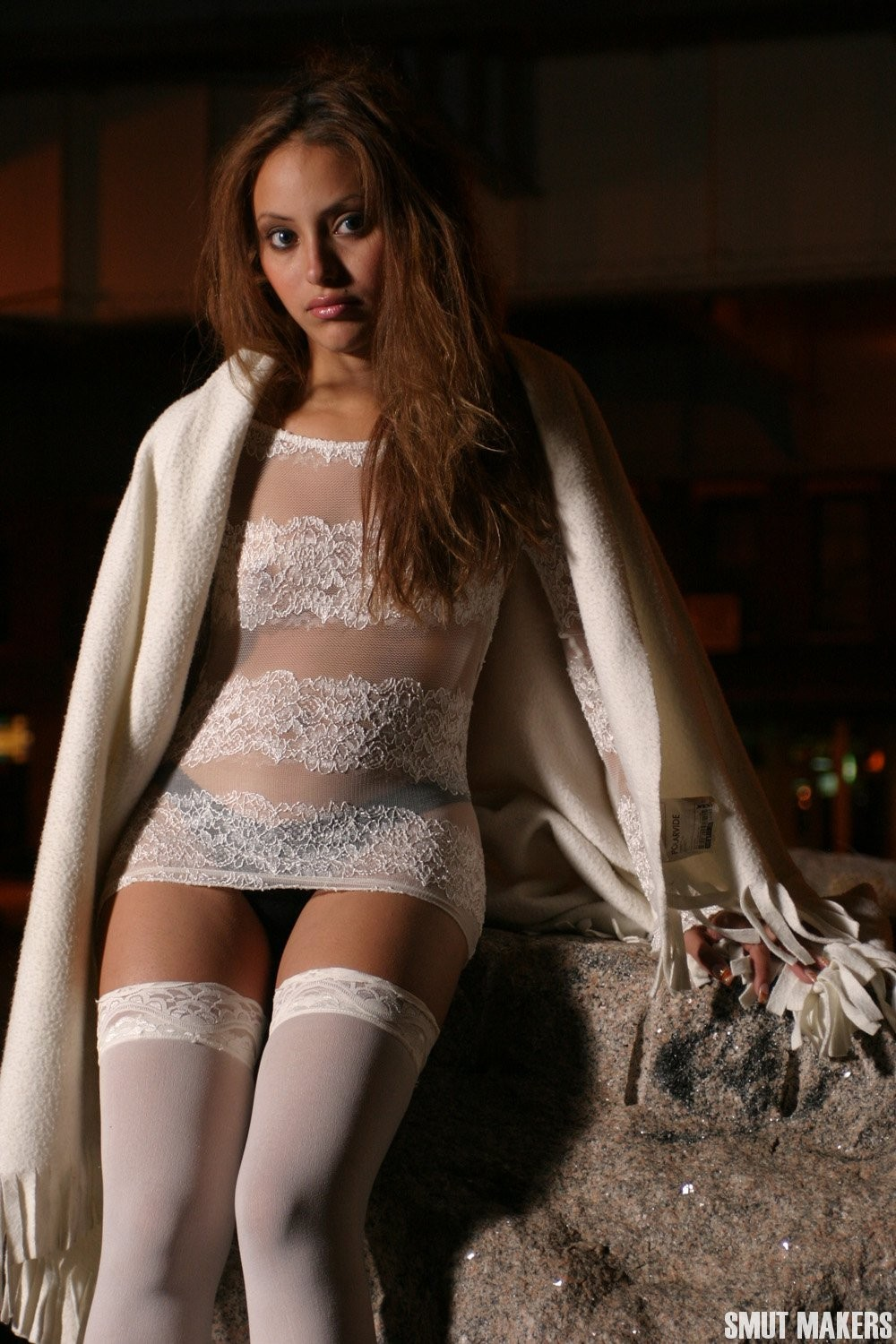 Elina white sheer costume