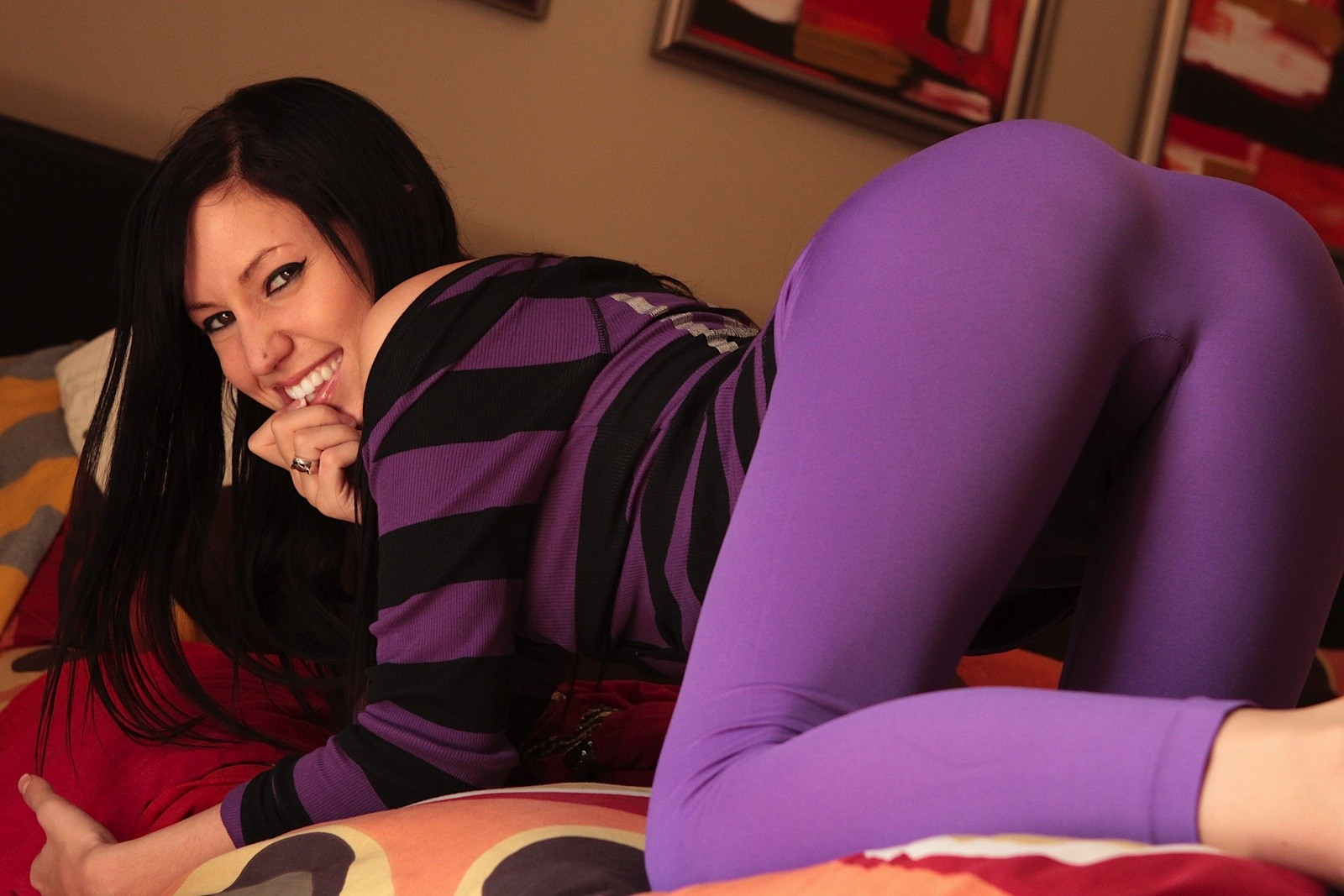 Lewd amateur geek catie minx in glasses and tense purple